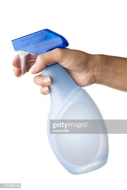 holding spray bottle - spray bottle stock pictures, royalty-free photos & images