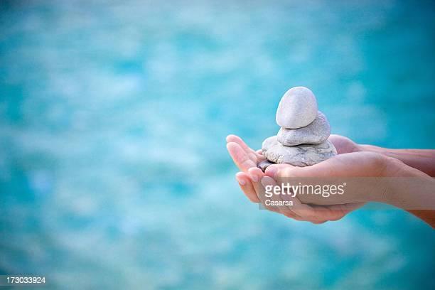 Holding stones
