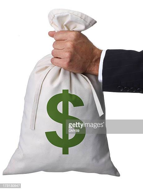 holding the bag - money bag stock pictures, royalty-free photos & images