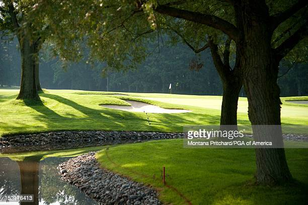 hole 1 scenic at Oak Hill Country Club in Rochester New York USA the future site of the 95th PGA Championship on June 11 2012