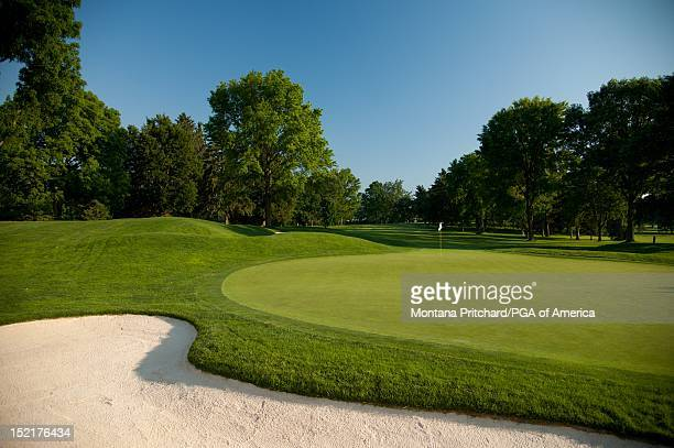 hole 17 scenic at Oak Hill Country Club in Rochester New York USA the future site of the 95th PGA Championship on June 11 2012