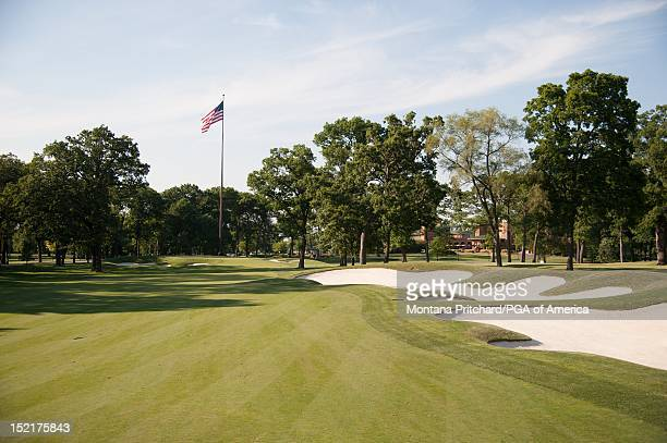 Hole 18 at Medinah Country Club in Medinah IL USA the future site of the 2012 Ryder Cup on June 06 2012