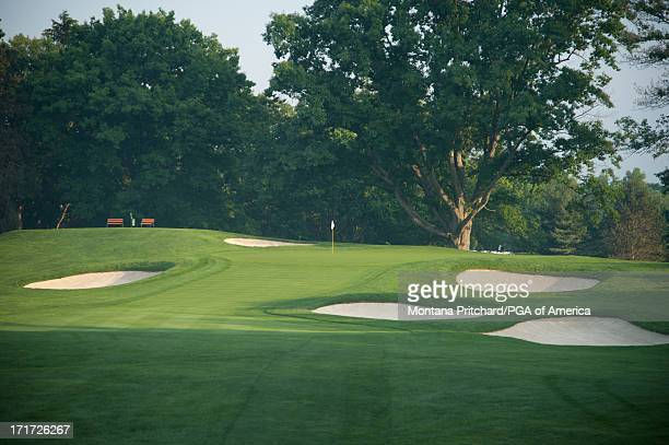 Hole 3 at Oak Hill Country Club is seen June 11 2012 in Rochester New York Oak Hill Country Club is the future site of the 95th PGA Championship