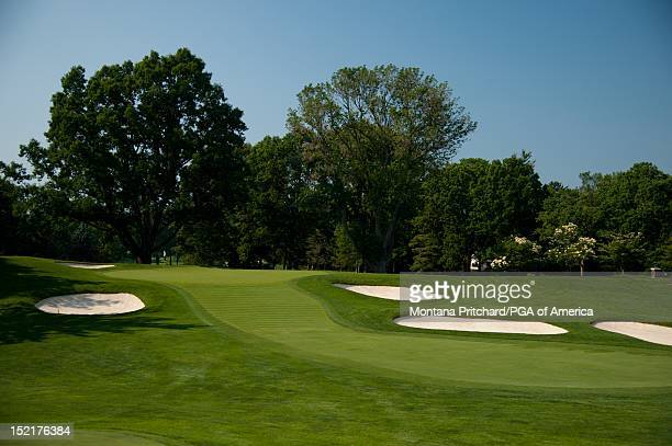 hole 3 scenic Oak Hill Country Club in Rochester New York USA the future site of the 95th PGA Championship on June 11 2012
