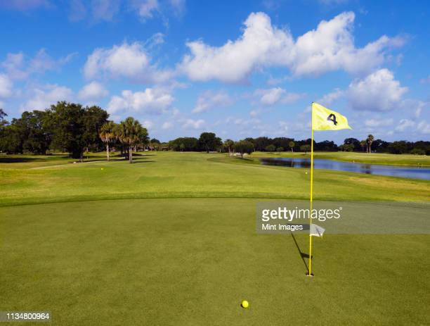 hole 4 on a golf course - bradenton stock pictures, royalty-free photos & images