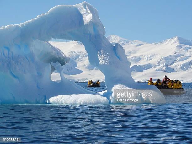 Hole in an iceberg