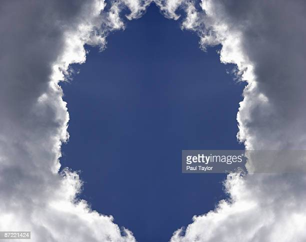 hole in clouds  - paradise stock pictures, royalty-free photos & images