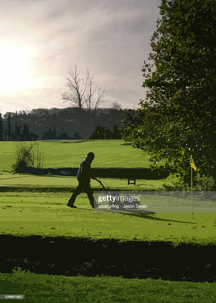 Hole in one : Stock Photo