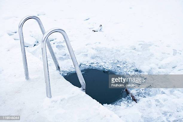 A hole in the ice, Stockholm, Sweden.