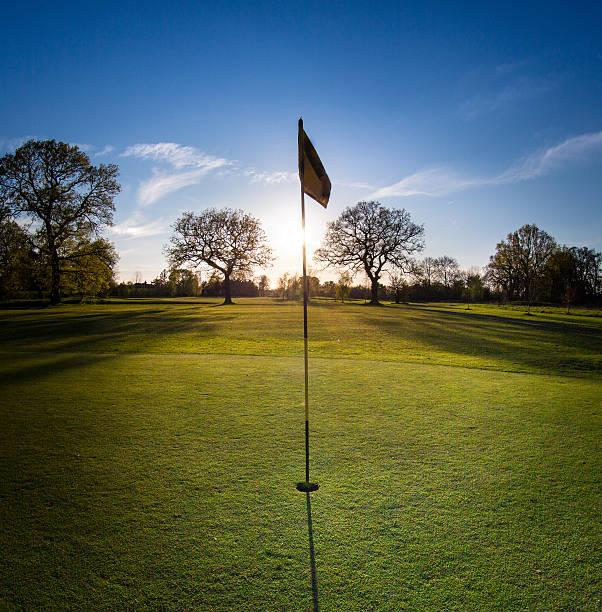Hole on golf course