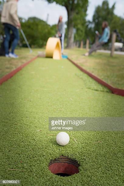 Hole on mini golf course