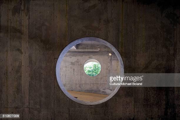 Holes in concrete car park, Vancouver, British Columbia, Canada