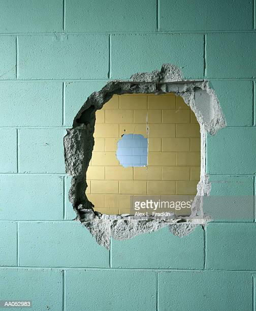 holes in tile walls - demolishing stock pictures, royalty-free photos & images