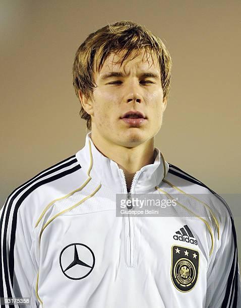 Holger Badstuber of Germany before the UEFA Under 21 Championship match between San Marino and Germany at Olimpico stadium on November 17, 2009 in...