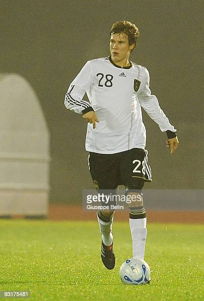 Holger Badstuber of Germany in action during the UEFA Under 21 Championship match between San Marino and Germany at Olimpico stadium on November 17,...