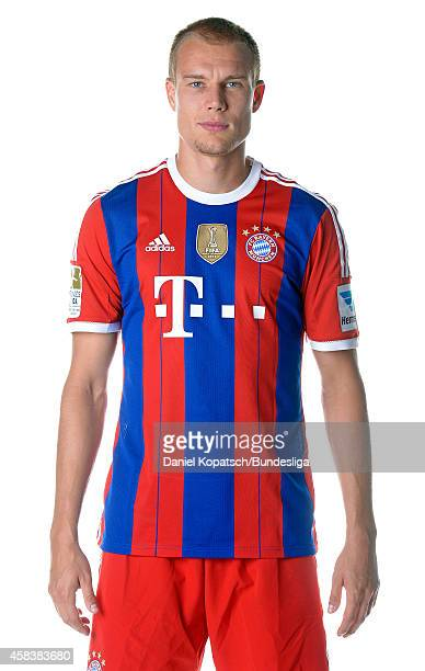 Holger Badstuber poses during the FC Bayern Muenchen Team Presentation for DFL on August 9 2014 in Munich Germany