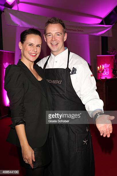 Holger Stromberg and his wife Nikita attend the Cotton Club Dinnershow Premiere at Ungerer Bad on November 6 2014 in Munich Germany