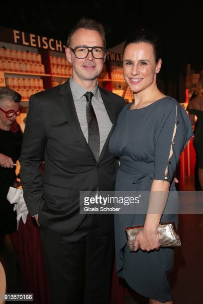 Holger Stromberg and his wife Nikita Stromberg during Michael Kaefer's 60th birthday celebration at Postpalast on February 2 2018 in Munich Germany