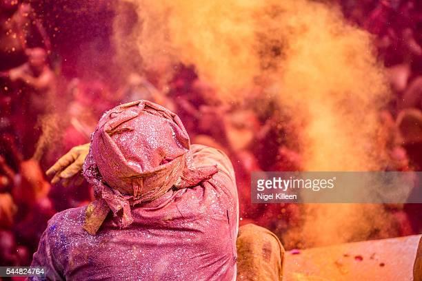 Holi at Dauji temple. Baldeo, Mathura, India.