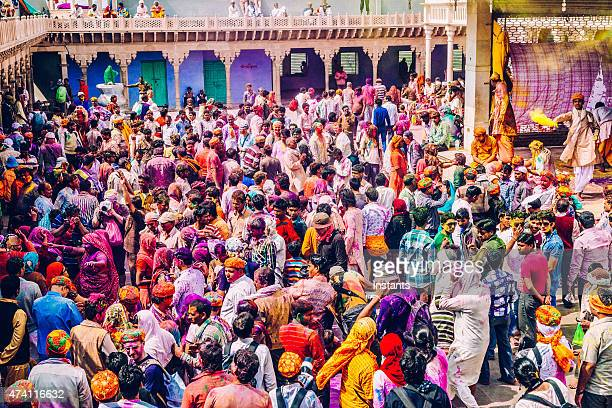 holi celebration in india - holi stock pictures, royalty-free photos & images