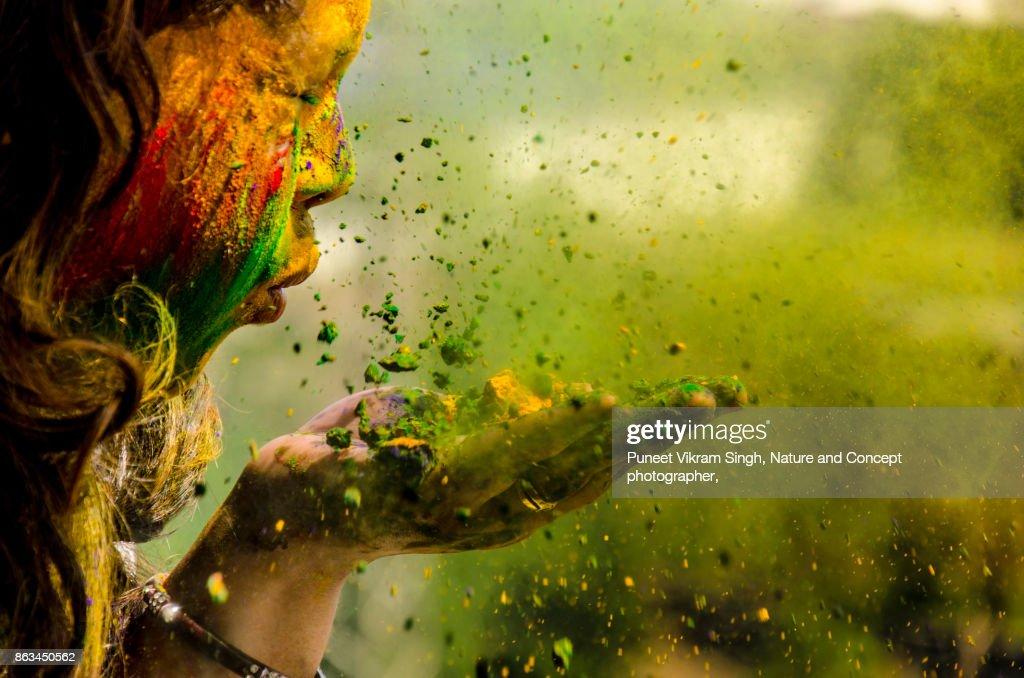 Holi Celebration : Stock-Foto