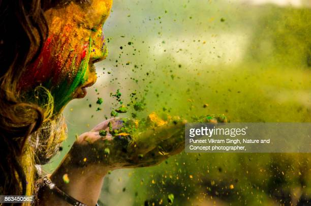 holi celebration - tradition stock pictures, royalty-free photos & images