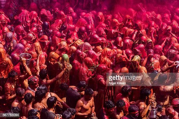 Holi celebrations at Dauji temple, Mathura, India
