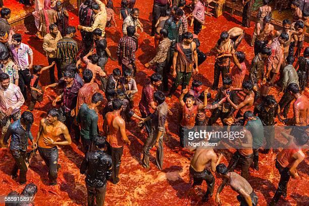 Holi Celebrations, Baldeo, Mathura, India