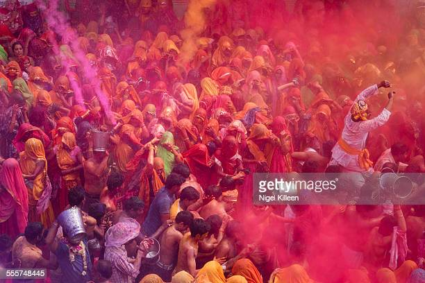 holi celebrations - holi stock pictures, royalty-free photos & images