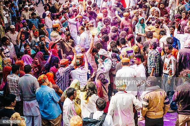 holi festival celebration - indian music stock photos and pictures