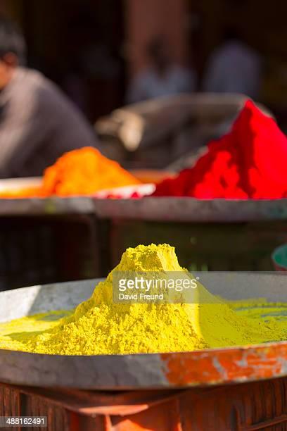 Holi Festival Color Powder Piles