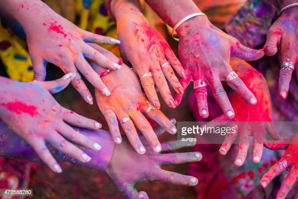 Holi Festival Hände