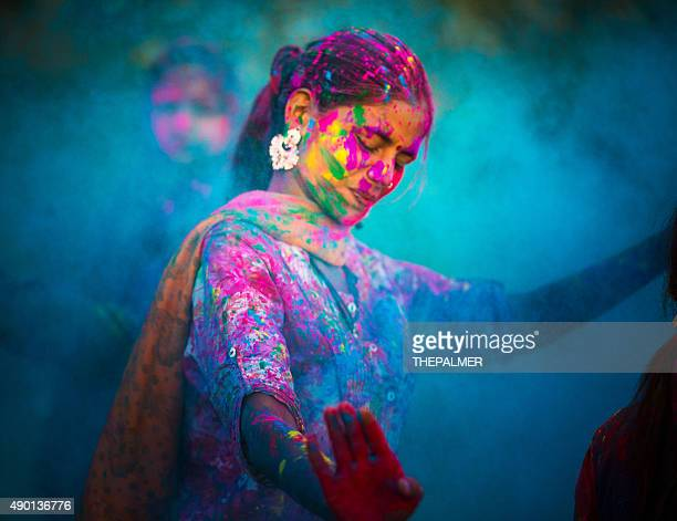 holi festival in india - holi stock pictures, royalty-free photos & images