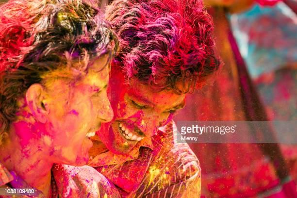 Holi Festival India, Indian Men Having Fun