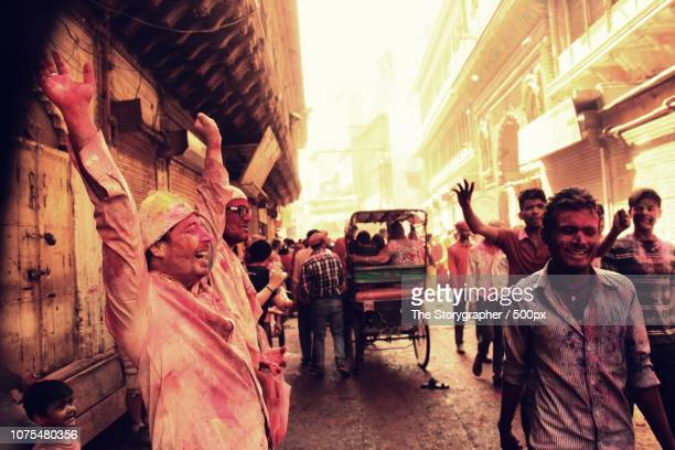 holi, festival of colors. mathura, india - the storygrapher bildbanksfoton och bilder