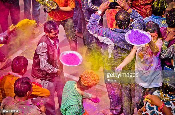 Holi Festival Personen, Indien
