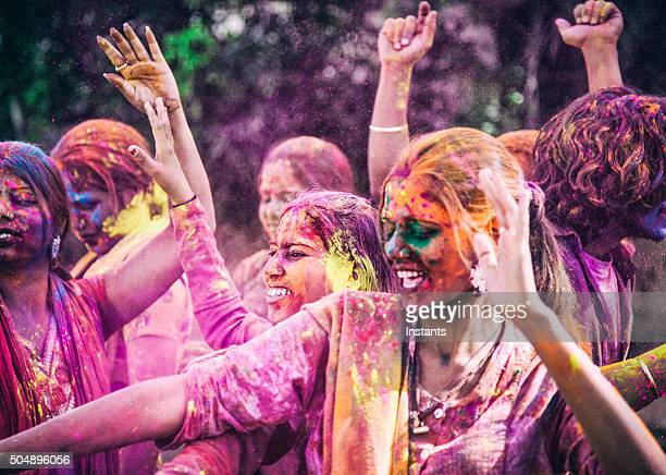 holi festival - indian music stock photos and pictures