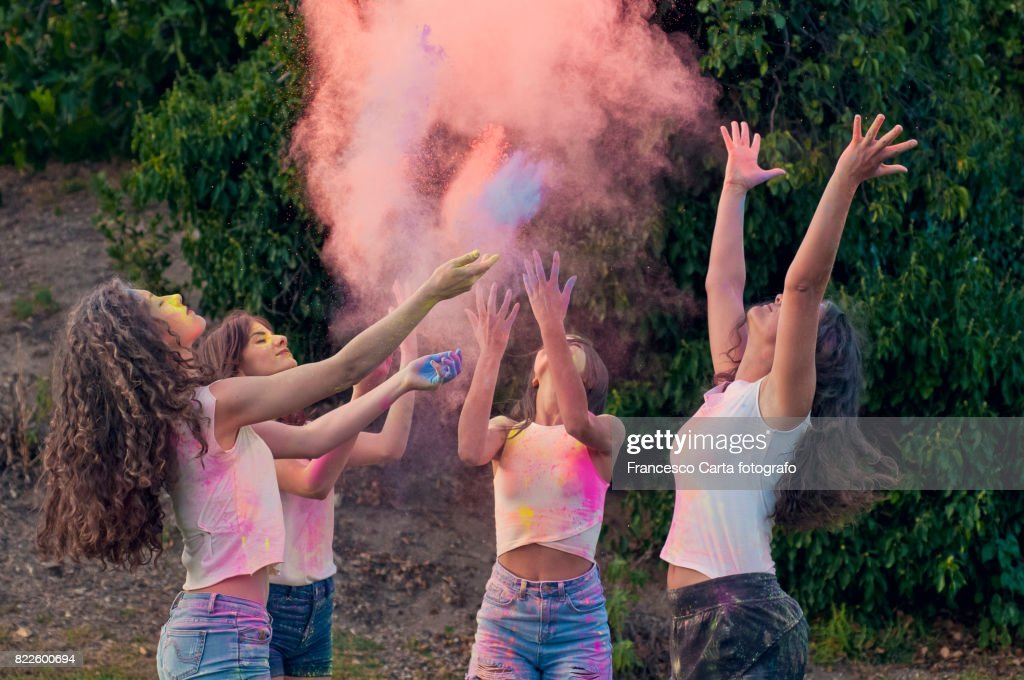 Holi festival : Stock Photo