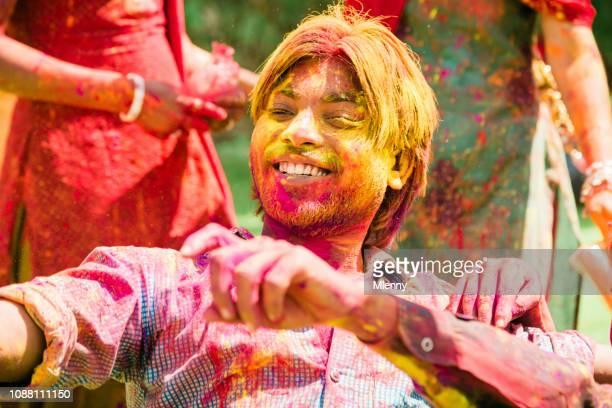 Holi Festival Rajasthan Dancing Indian Man