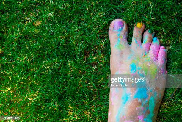 Holi Foot Selfie
