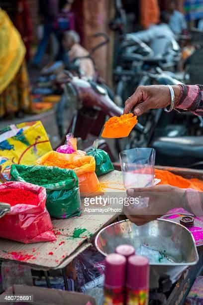 Holi powder for sale in Jaipur, India - V