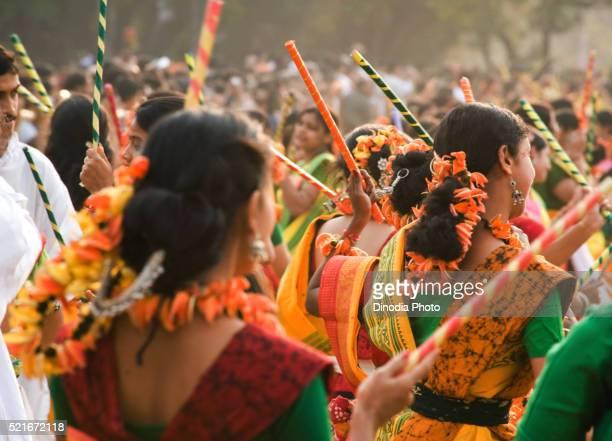 Holi spring festival, Shantiniketan, Calcutta Kolkata, west Bengal, India