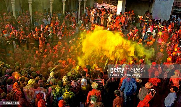 CONTENT] Holi the festival of colours began in India with Lathmar Holi celebrations in Barsana Uttar Pradesh Hundreds of people from across India and...