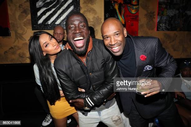 NEMAS J Holiday and J Alexander Martin attend the Maino album release party at Beautique on October 18 2017 in New York City