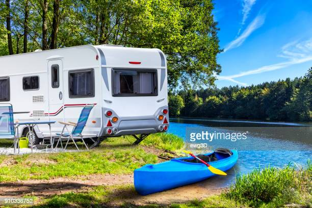 Holiday at Krutynia river in Masuria land, Poland