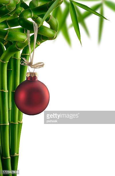 holiday bamboo greetings - feng shui stock photos and pictures