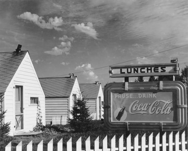 Holiday cabins in Floodwood, Minnesota, with a Coca-Cola...