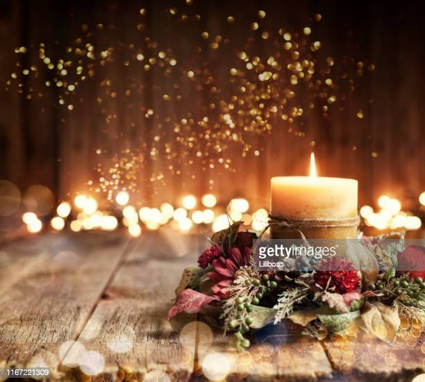holiday candle background - holiday stock pictures, royalty-free photos & images