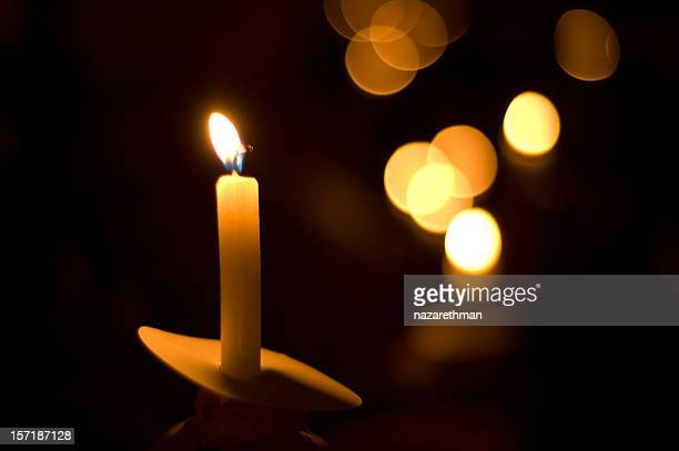 holiday candlelight service or memorial vigil - candle stock pictures, royalty-free photos & images