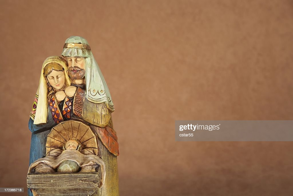 Holiday: Christmas Nativity Trio with copy space horizontal : Stock Photo